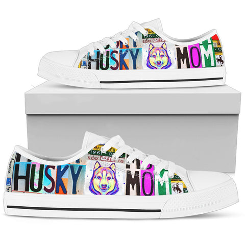 Women's Low Top Canvas Shoes For Siberian Husky Mom