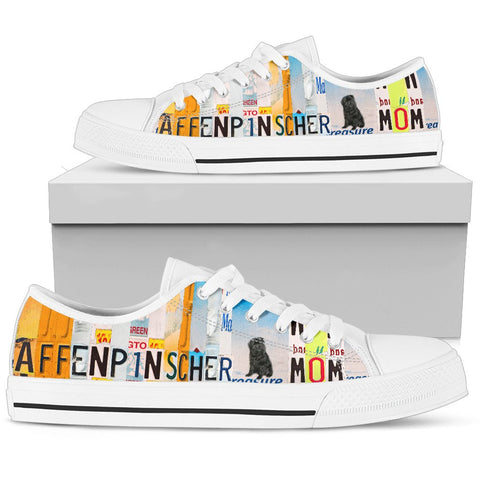 Women's Low Top Canvas Shoes For Affenpinscher Mom