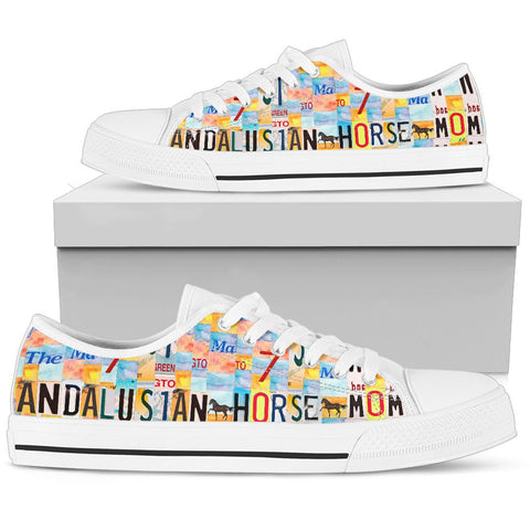Women's Low Top Canvas Shoes For Andalusian Horse Mom