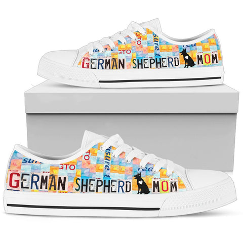 German Shepherd Mom Print Low Top Canvas Shoes For Women