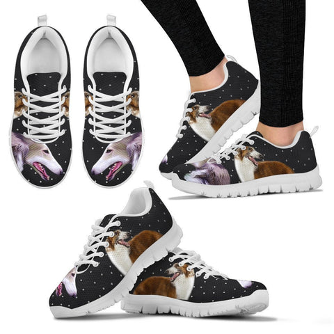 Borzoi Dog Print Running Shoes For Women-Free Shipping