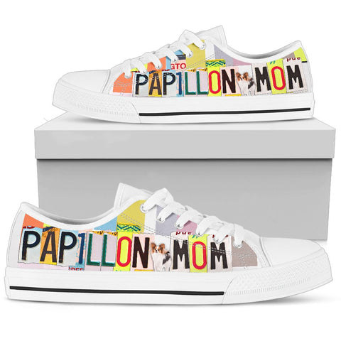Papillon Mom Print Low Top Canvas Shoes for Women
