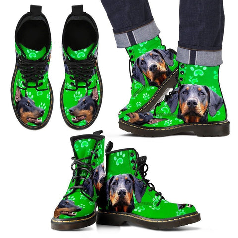 Doberman Pinscher Print Boots For Men-Limited Edition-Express Shipping