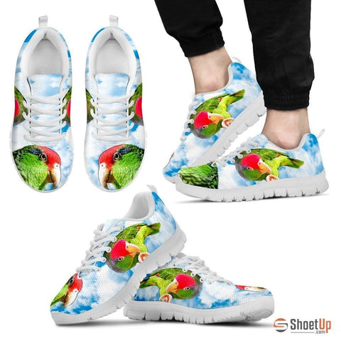 Amazon Red Headed Parrot Print Running Shoes For Men-Free Shipping Limited Edition