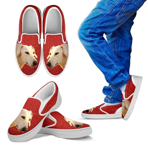Sloughi Dog Print Slip Ons For Kids-Express Shipping