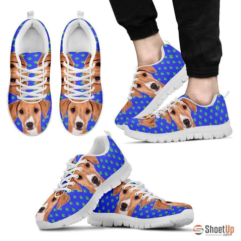 Azawakh Dog (White/Black) Running Shoes For Men-Free Shipping
