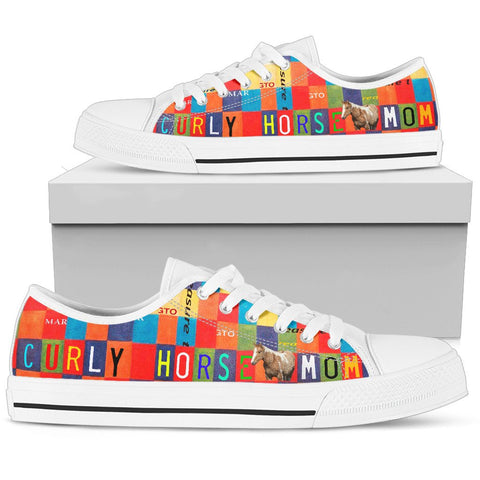 Women's Low Top Canvas Shoes For Curly Horse Mom