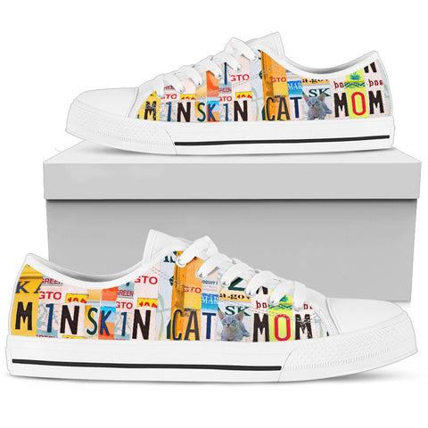 Women's Low Top Canvas Shoes For Minskin Cat Mom