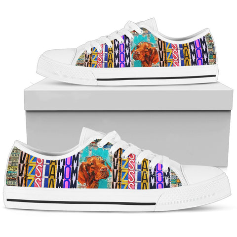 Women's Low Top Canvas Shoes For Vizsla Mom
