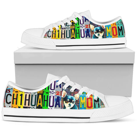 Women's Low Top Canvas Shoes For Chihuahua Mom Mom