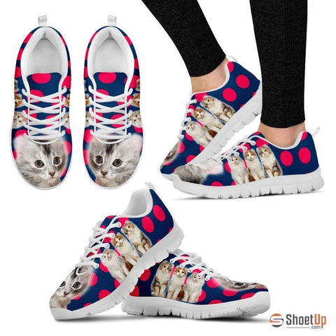 Beautiful American Curl Cat Print Sneakers For Women- Free Shipping