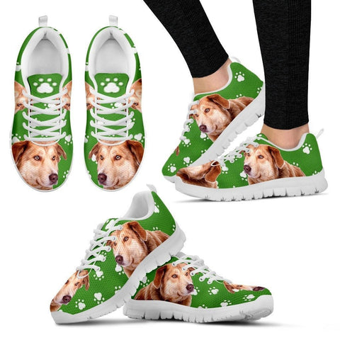 Aidi Dog Print (Black/White) Running Shoes For Women-Express Shipping