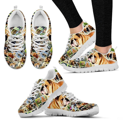 Lovely Bulldog Print-Running Shoes For Women-Express Shipping