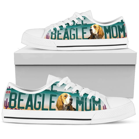 Women's Low Top Canvas Shoes For Beagle Mom