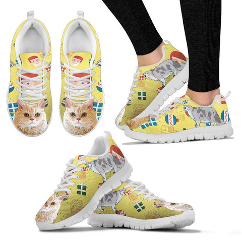 Selkirk Rex Christmas Running Shoe For Women- Free Shipping