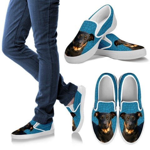 Beauceron Dog Print Slip Ons For Women-Express Shipping
