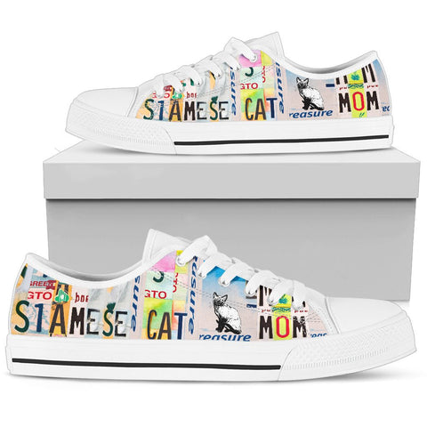 Women's Low Top Canvas Shoes For Siamese cat Mom