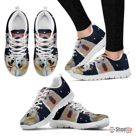 Customized(2093) Dog -(White/Black) Running Shoes For Women-Free Shipping