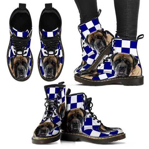 English Mastiff Print Boots For Women-Express Shipping