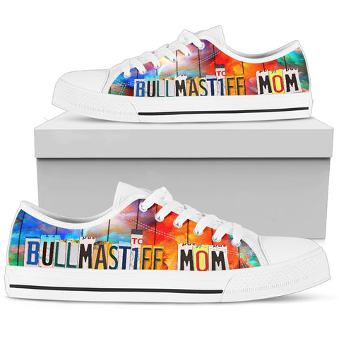 Bullmastiff Mom Print Low Top Canvas Shoes for Women