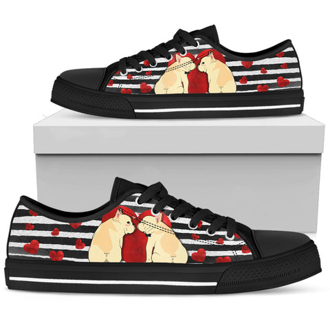 French Bulldog Women's Low Top Shoe