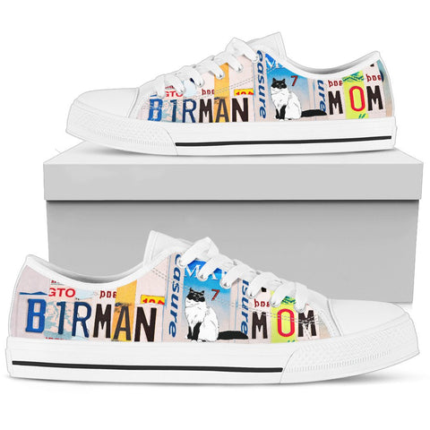 Birman Mom Print Low Top Canvas Shoes for Women