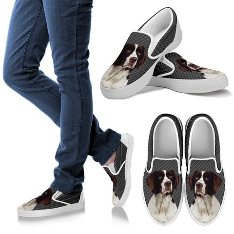 Drentse Patrijshond Dog Print Slip Ons For Women-Express Shipping