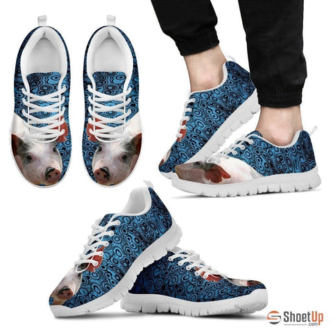 Blue Pig Running Shoes For Men-Free Shipping Limited Edition