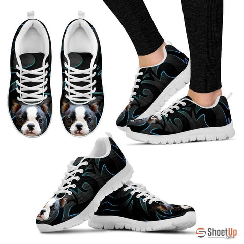 Boston Terrier Running Shoe For Women- Free Shipping