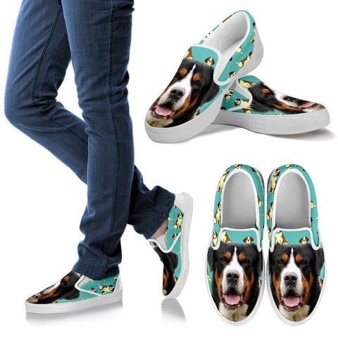 Entlebucher Mountain Dog Print Slip Ons For Women- Express Shipping