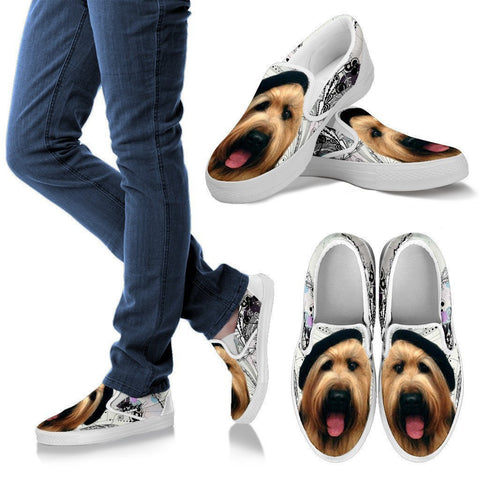 Briard Dog Print Slip Ons For Women- Express Shipping