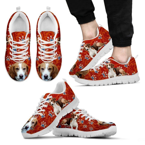 Cute Drever Dog Print Sneakers For Men(White/Black)- Express Shipping