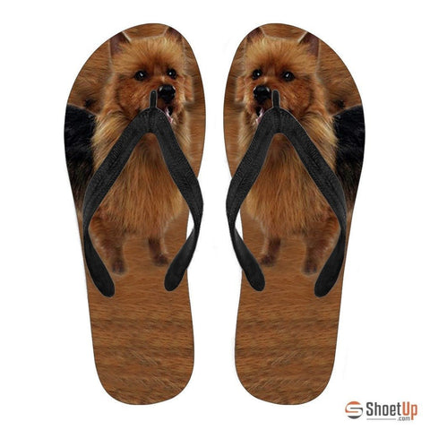 Australian Terrier Flip Flops For Men-Free Shipping
