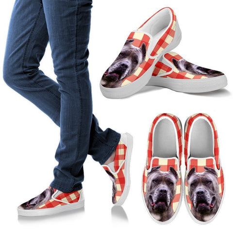Perro De Presa Print Slip Ons For Women- Express Shipping