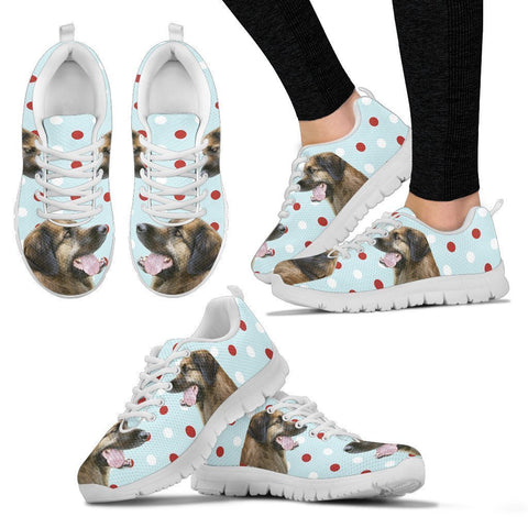 Leonberger With Red White dots Print Running Shoes For Women-Free Shipping