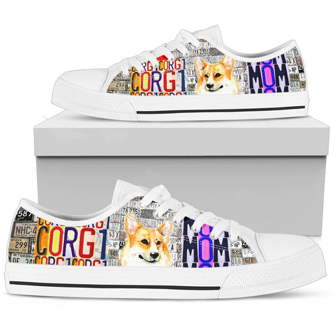 Women's Low Top Canvas Shoes For Pembroke Welsh Corgi Mom