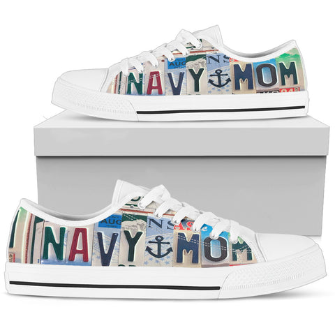 Navy Mom Low Top