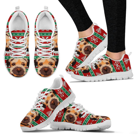 Border Terrier Christmas Running Shoes For Women- Free Shipping