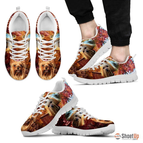 Cute Yorkshire Terrier Dog Print Running Shoe For Men- Free Shipping