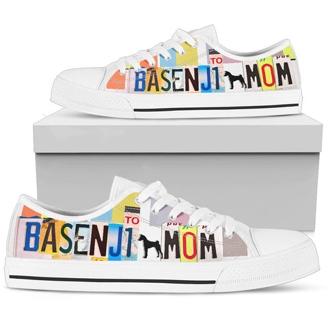 Basenji Mom Print Low Top Canvas Shoes for Women