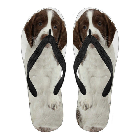 English Springer Spaniel Flip Flops For Women-Free Shipping