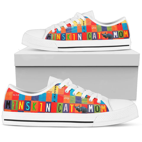 Minskin Cat Mom Print Low Top Canvas Shoes for Women