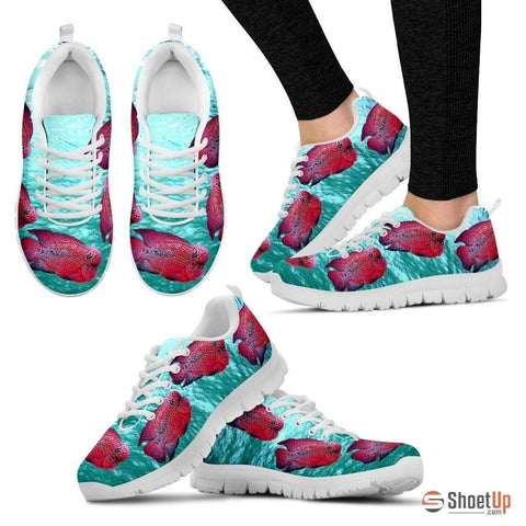 Flowerhorn Cichlid Fish Running Shoes For Women-Free Shipping