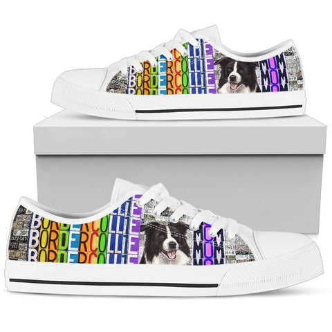 Women's Low Top Canvas Shoes For Border Collie Mom