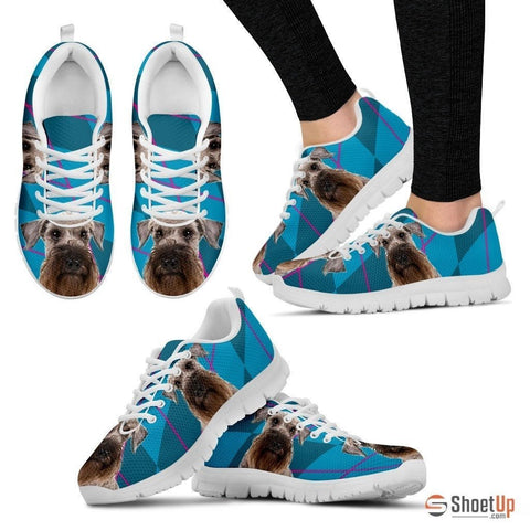 Cesky Terrier Dog (White/Black) Running Shoes For Women-Free Shipping