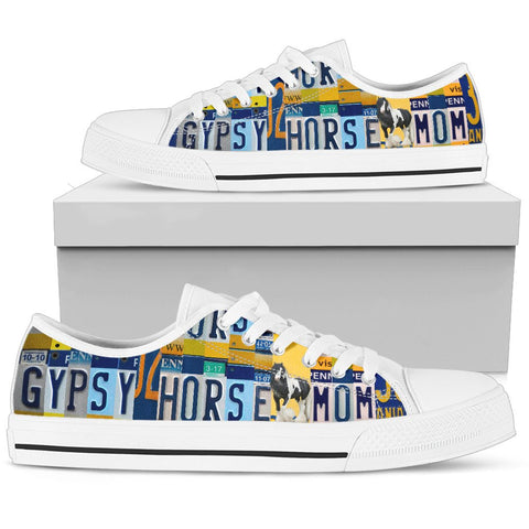 Gypsy horse Mom Print Low Top Canvas Shoes For Women