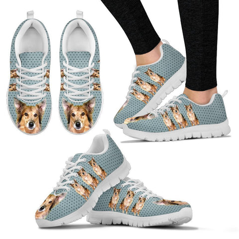 Customized Dog Print Running Shoes For Women-Express Shipping-Designed By Gloria Shipman