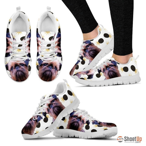 Customized(1914) Dog (White/Black) Running Shoes For Women-Free Shipping