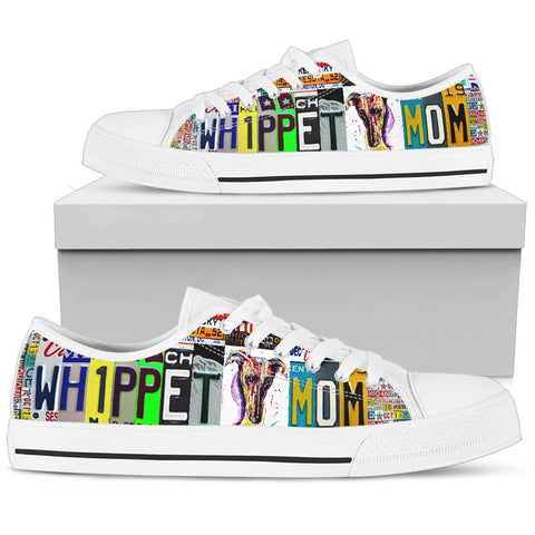 Women's Low Top Canvas Shoes For Whippet Mom