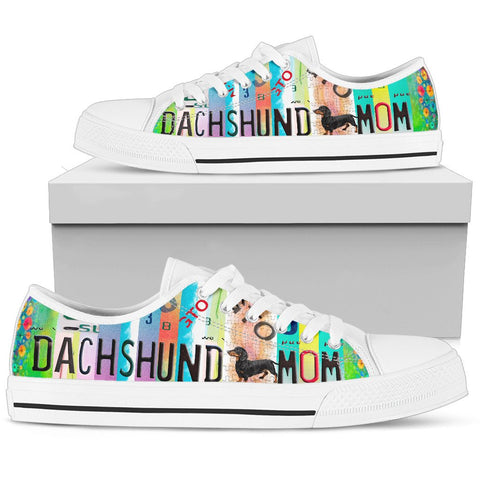 Dachshund Mom Print Low Top Canvas Shoes For Women